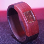 "Exclusive women watch ""KIBA"" made of maple wood and red sandle wood"