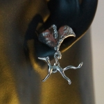 "Earring ""Greyhound MoccaSue"" - stainless steel"