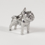 "Pendant ""Pug dog / FROPS"" made with stainless steel"