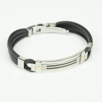 "Magnetic-Bracelet ""TESEO"" - Stainless Steel and three permanent magnets"