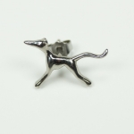"Ear stud ""Greyhound MoccaSue"" - stainless steel"